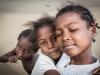 Gamins sur la plage de saint Augustin